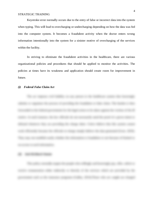 Strategic Training of Healthcare Workforce on Policies, Procedures, and Regulation  - Page 4