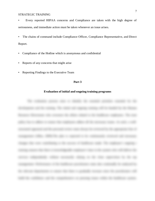 Strategic Training of Healthcare Workforce on Policies, Procedures, and Regulation  - Page 7