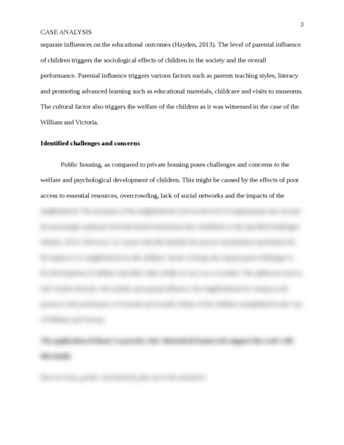 Case Study:You are a social worker at the Child, Adolescent and Family Health Services in Marrickville. - Page 3