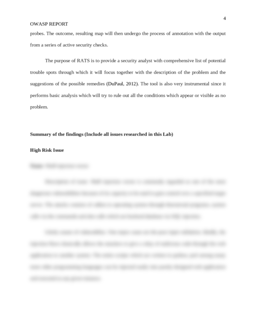 OWASP report - Page 4