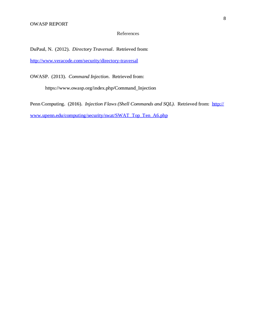 OWASP report - Page 8