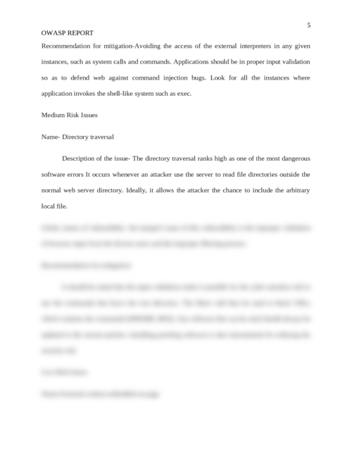 OWASP report - Page 5