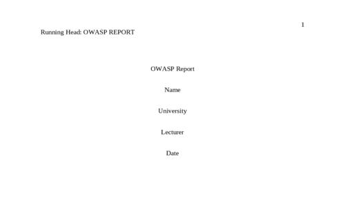 OWASP report