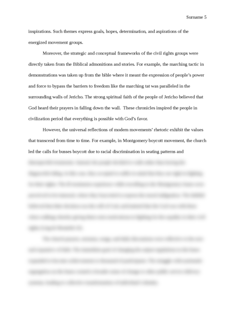 The role of the church in the contemporary civil rights movement - Page 5