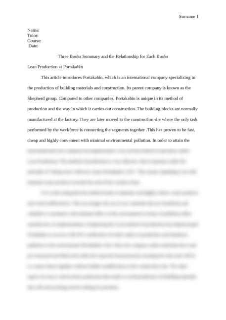 Three Books Summary and the Relationship for Each Books - Page 1