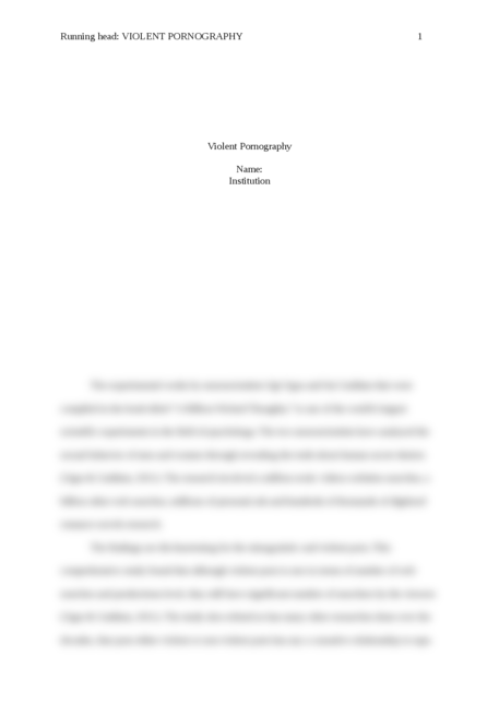 Violent Pornography - Page 1