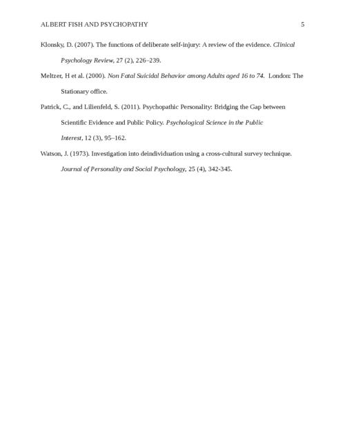 Albert Fish and Psychopathy - Page 5