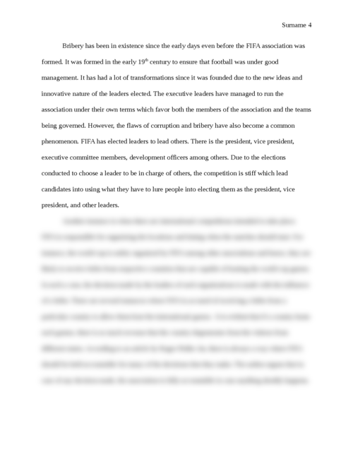 Research prospectus on corruption in FIFA - Page 4