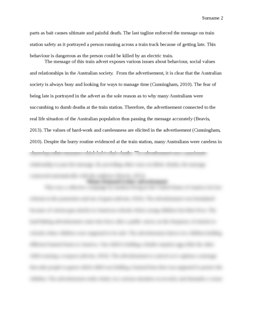 Analysis of three print advertisements - Page 2