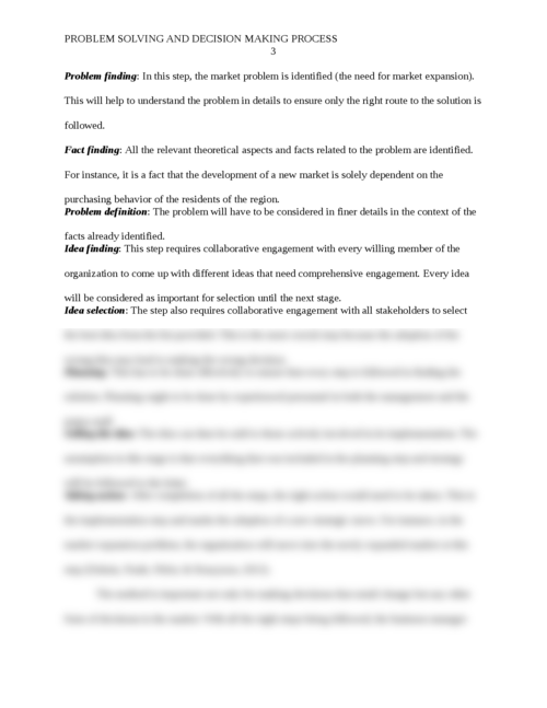Problem Solving and the Decision Making Process - Page 3