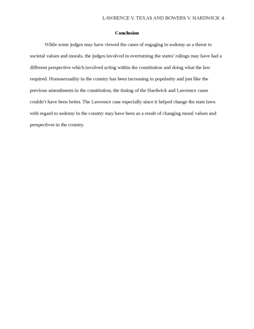 Lawrence v. Texas and Bowers v. Hardwick - Page 6