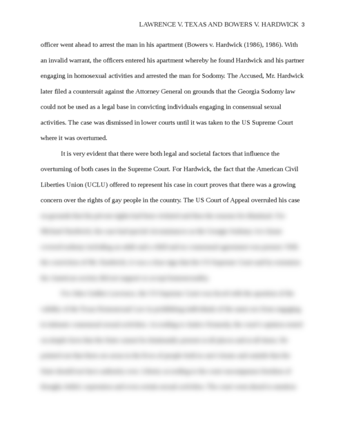 Lawrence v. Texas and Bowers v. Hardwick - Page 3
