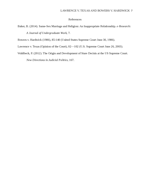 Lawrence v. Texas and Bowers v. Hardwick - Page 7