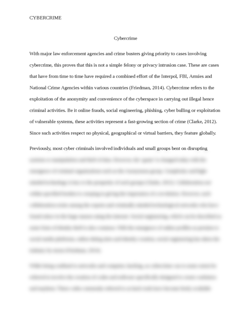 Essay on Cyber Crime - Page 2