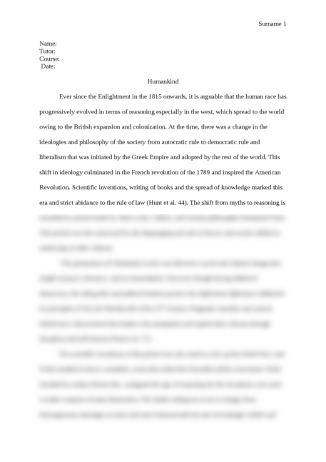 Humankind - Page 1