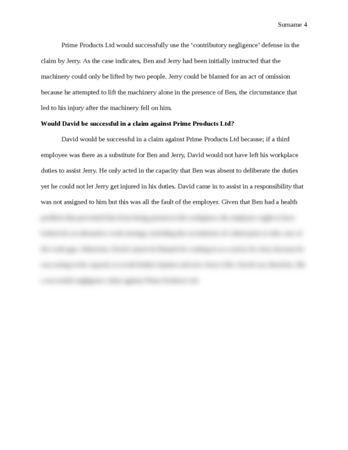 The Law of Tort: Case Study - Page 4