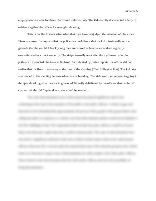 Discrimination in Law Enforcement - Page 5