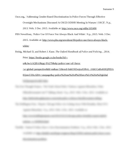 Discrimination in Law Enforcement - Page 9