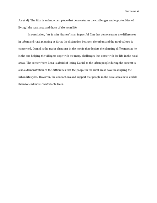 Planning Issues in 'As it is in Heaven' Movie - Page 4