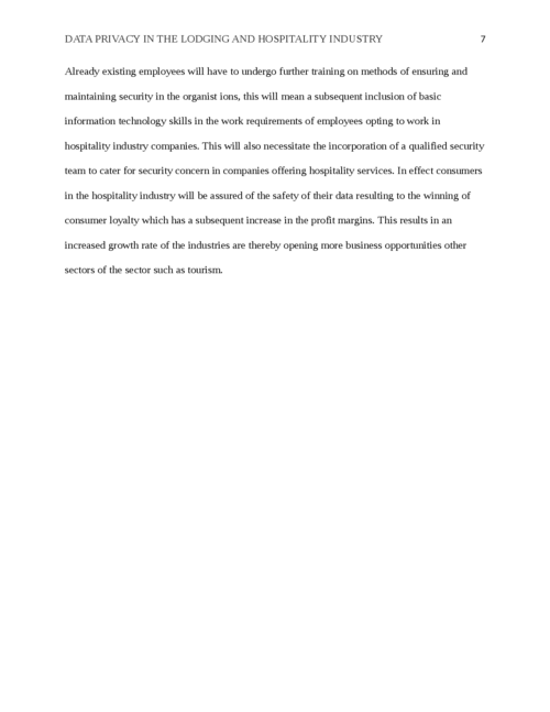 Data Privacy in the Lodging and Hospitality Industry - Page 7