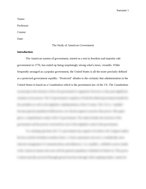 The Study of American Government - Page 1