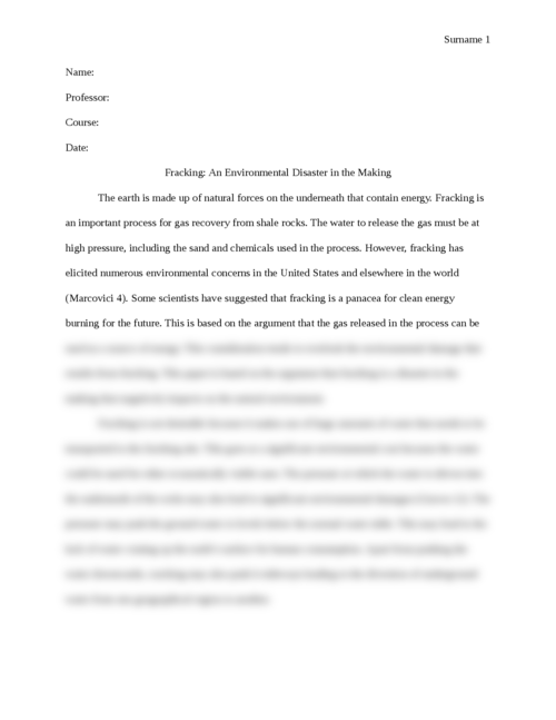 Fracking: An Environmental Disaster in the Making - Page 1