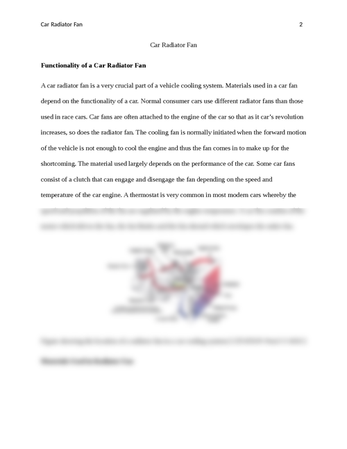 Functionality of a Car Radiator Fan - Page 2