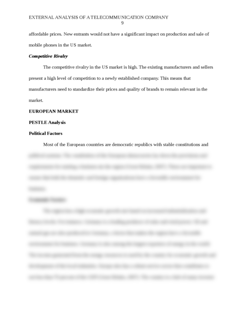 External analysis for a Telecommunication Company  - Page 9