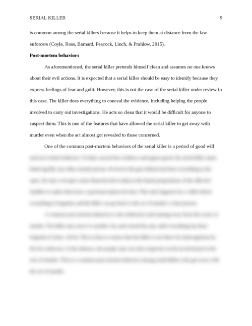 Research paper: Serial Killer - Page 9