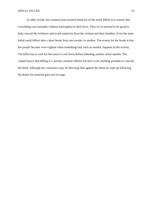 Research paper: Serial Killer - Page 10