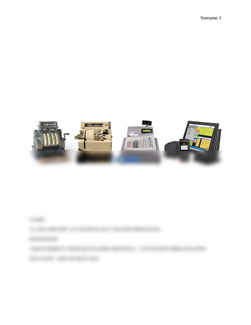 History of the Cash Register - Page 1