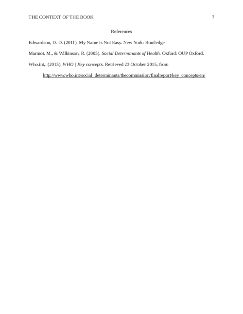 """The Context of the Book, """"My name is not easy,"""" in Program Planning - Page 7"""