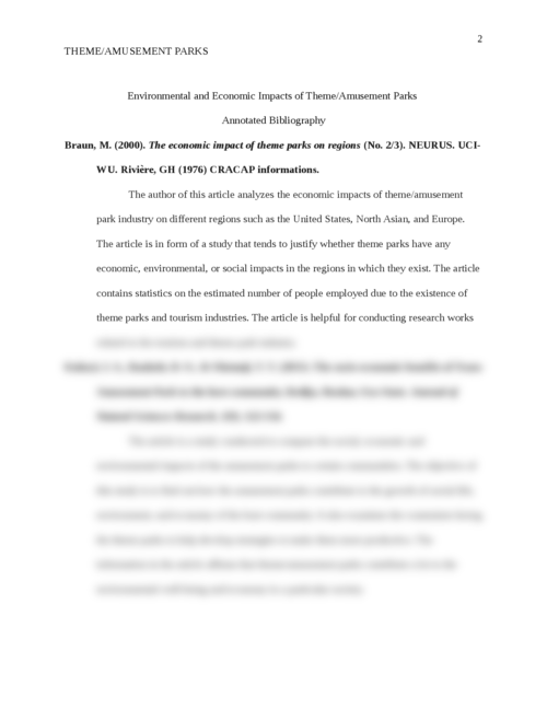 Impact of amusement parks on environment and economics - Page 2
