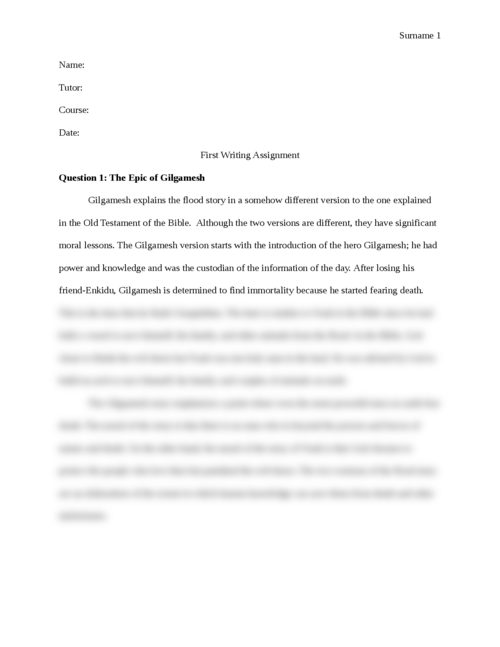 The Epic of Gilgamesh - Page 1