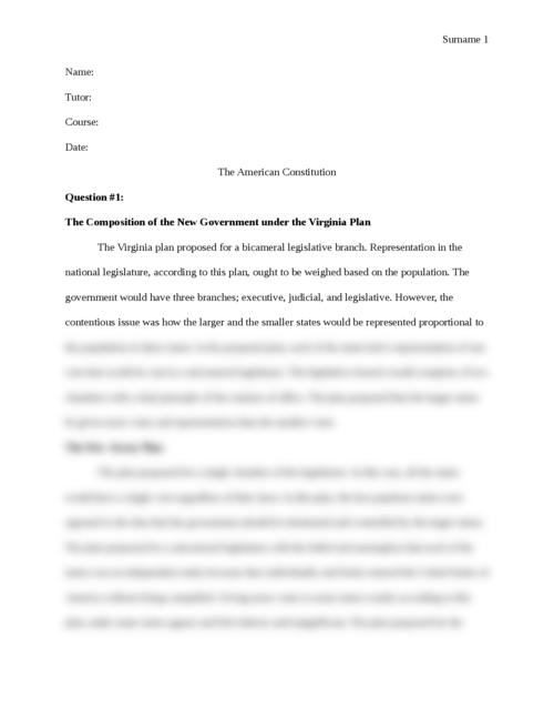 The American Constitution - Page 1