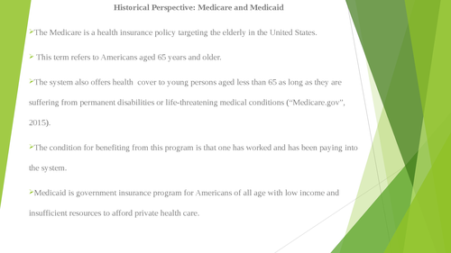 Historical Perspective: Medicare and Medicaid - Page 2
