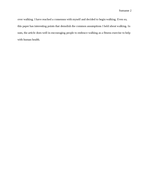 Response: Step by Step: Walking for fitness - Page 2