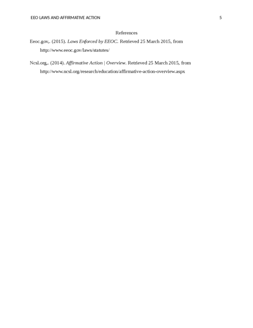 EEO Laws and Affirmative Action - Page 5