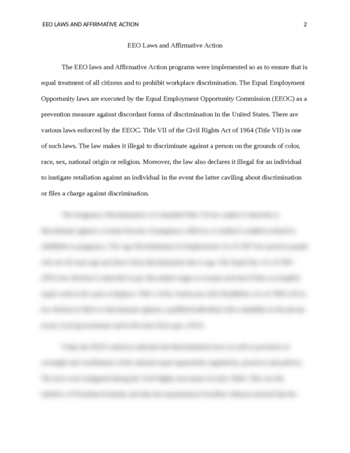EEO Laws and Affirmative Action - Page 2