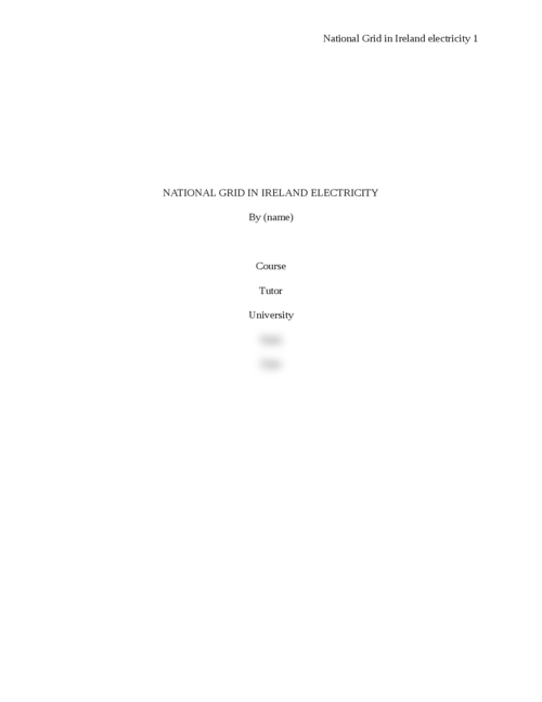 National Grid in Ireland electricity - Page 1