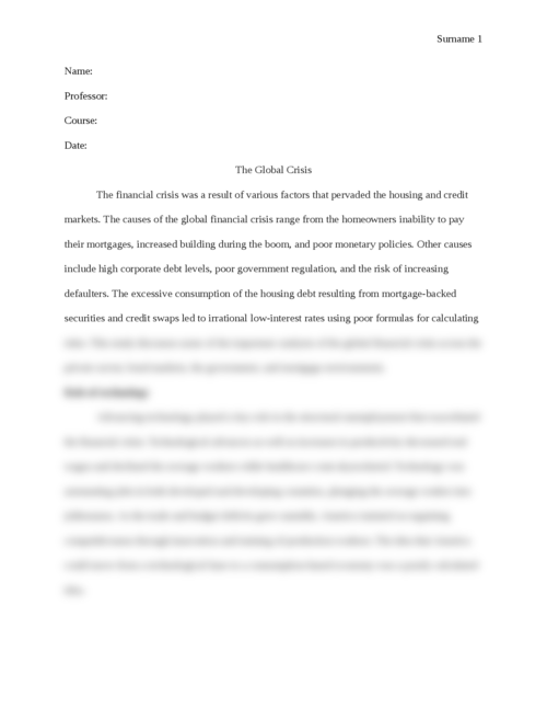 Global financial crisis - Page 1