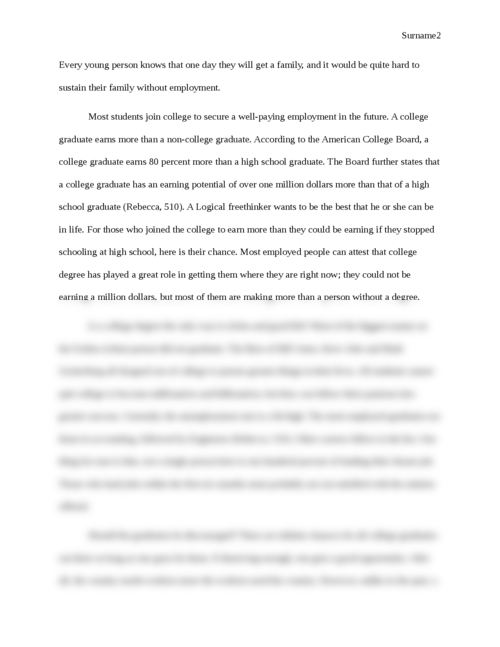 Commencement Speech: The Value of a College Degree - Page 2