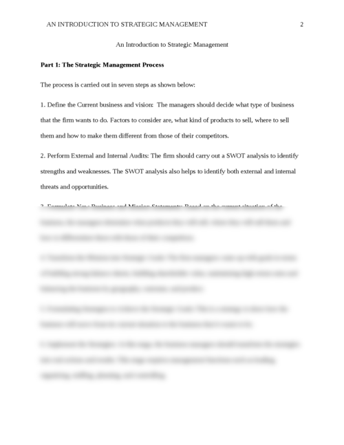An Introduction to Strategic Management - Page 2
