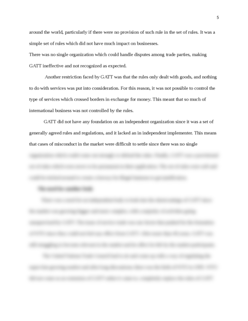 Why did WTO replace GATT - Page 5