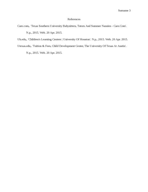 Impact of Day Care Center on Texas southern university Students - Page 3