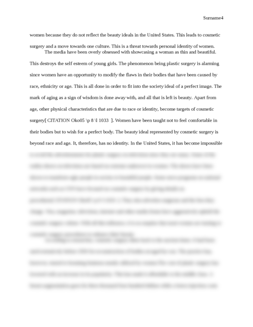 Cosmetic Surgery: Reasons and Consequences - Page 4