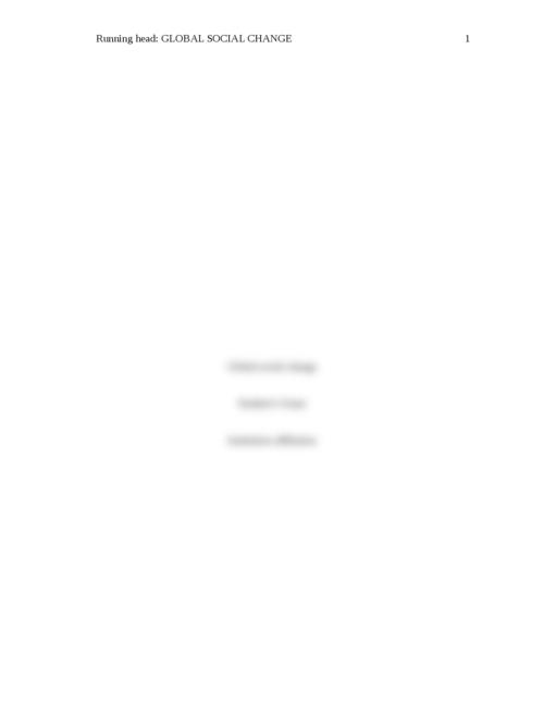 Global social change - Page 1