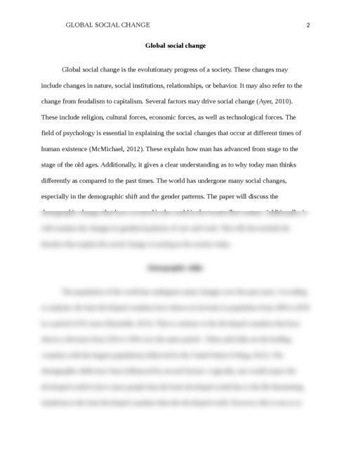 Global social change - Page 2