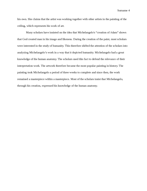 Analysis of Michelangelo's work on creation of Adam - Page 4