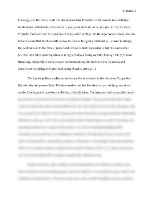 Value of friendship in The Big Bang Theory and Cathedral - Page 5
